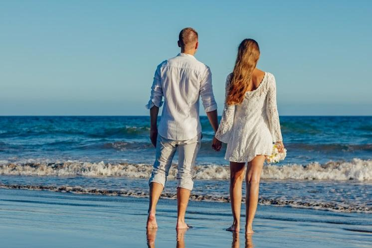 De La Boda, Playa, El Amor, Pareja, Pareja Joven
