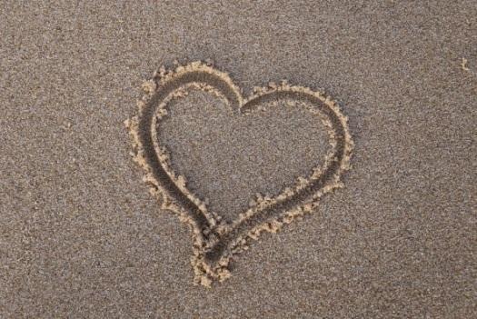 Corazón, Arena, Playa, Verano, Mar, El Amor, Vacaciones